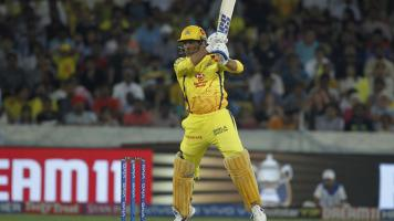MS Dhoni of Chennai Super Kings in action